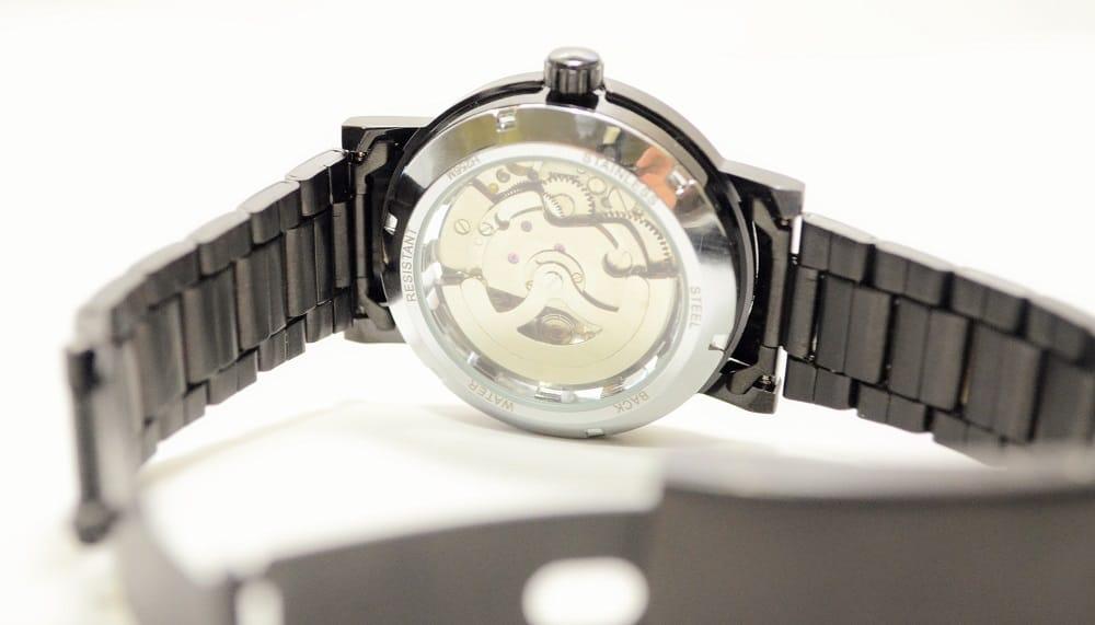 aliexpress mechanical see through watch